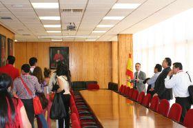 Recepción en la Facultad de Derecho