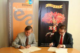 Firma de Convenio entre Aljomar y la Fundación General