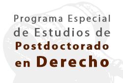 PROGRAMA ESPECIAL DE ESTUDIOS DE POSTDOCTORADO EN DERECHO